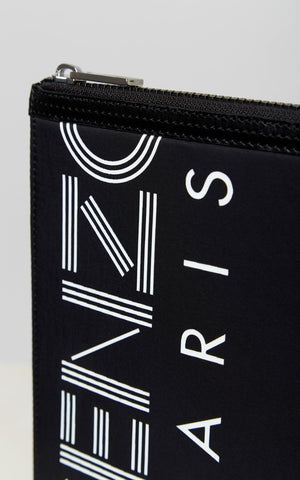 Load image into Gallery viewer, Kenzo Nylon Large Pouch Black - Roulette Clothing