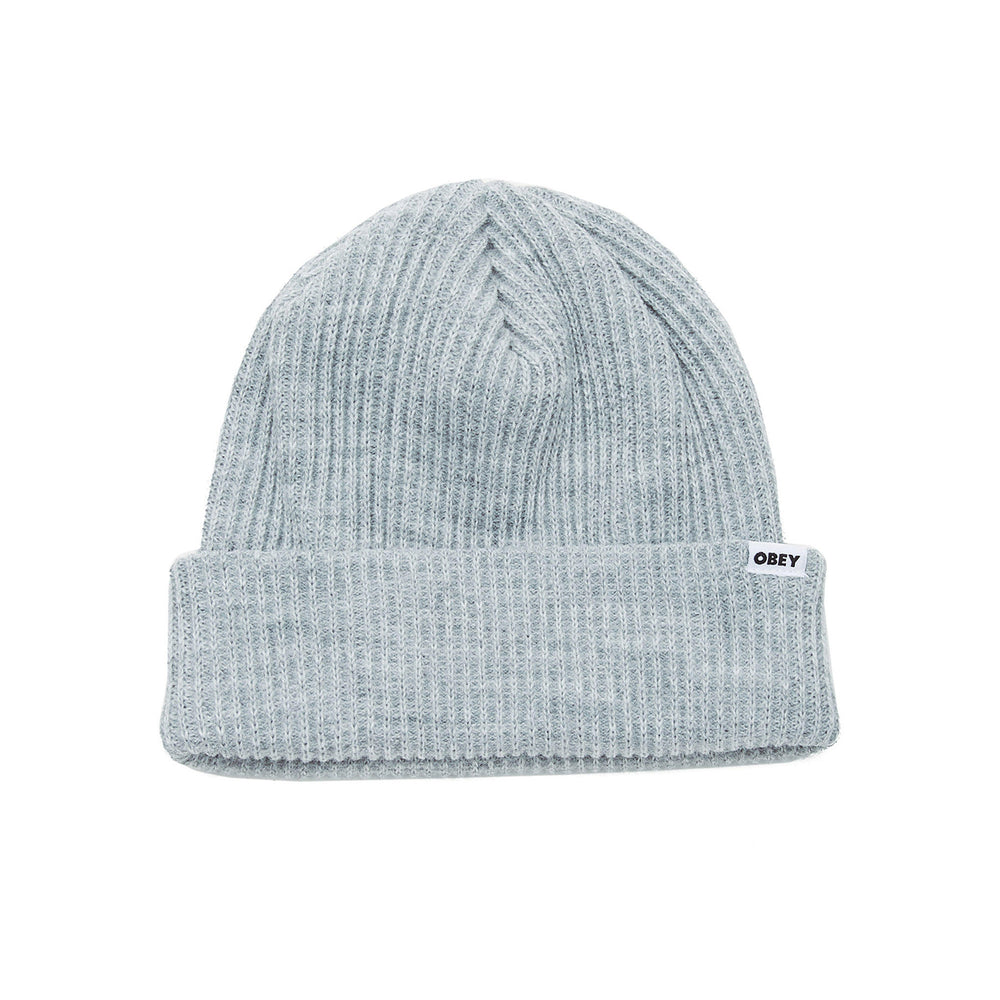 Obey Bold Knit Beanie Grey - Roulette Clothing