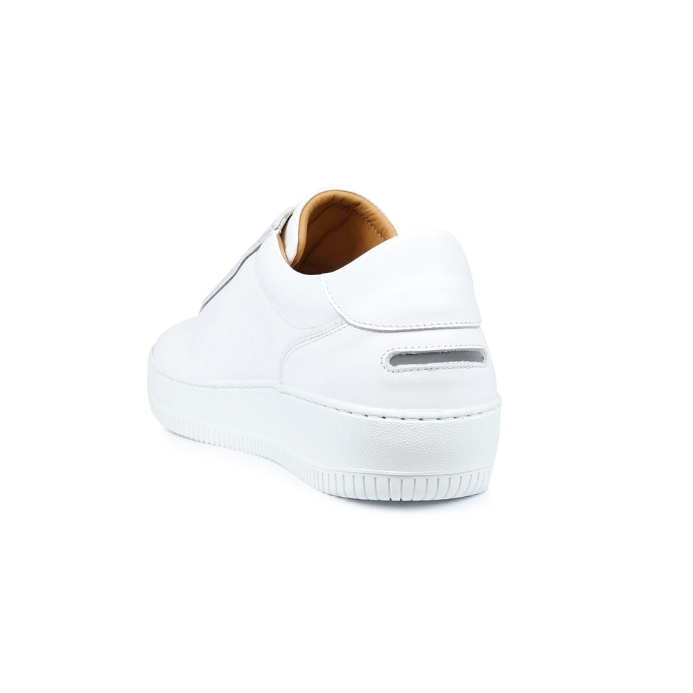 Unseen Footwear Clement Leather Tonal White - Roulette Clothing