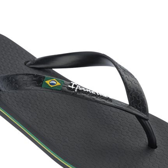 Ipanema Classic Brazil Flip Flop Black, Footwear available at Roulette Clothing