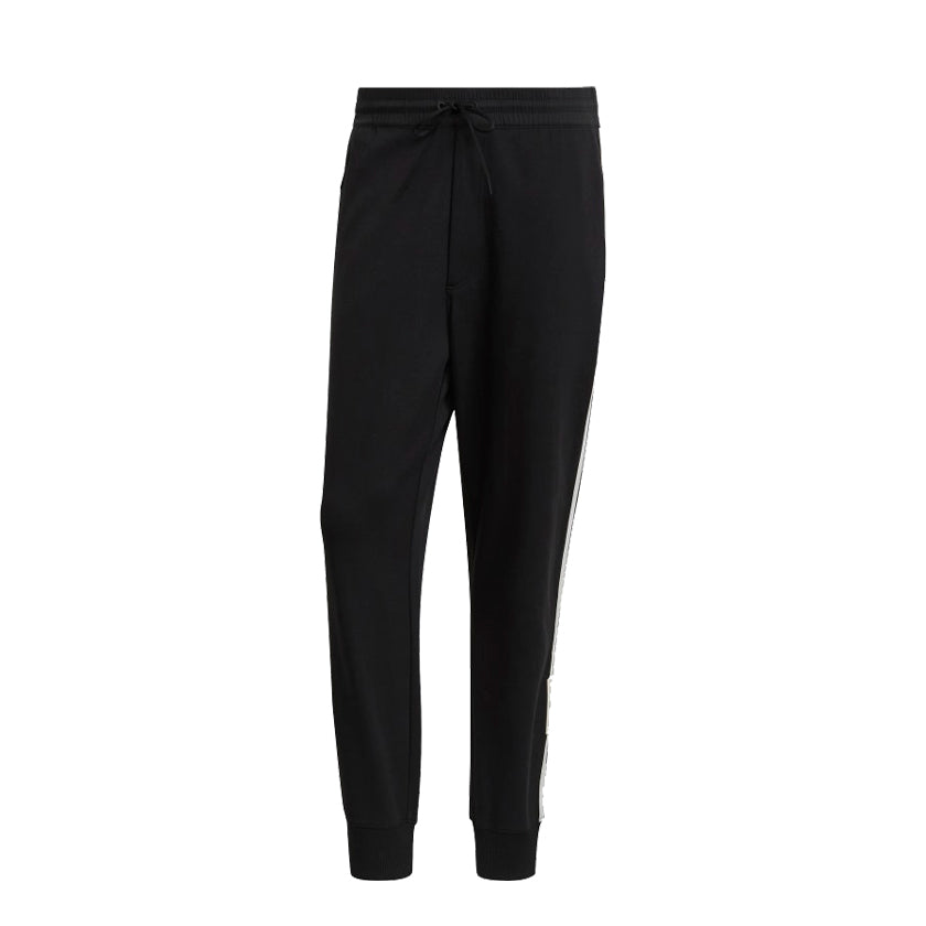 adidas Y-3 3 Stripe Cuffed Track Pant Black, Mens Jogger available at Roulette Clothing