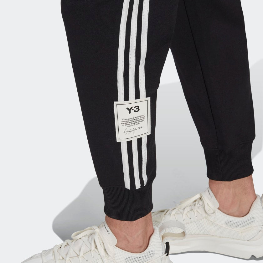 Load image into Gallery viewer, adidas Y-3 3 Stripe Cuffed Track Pant Black, Mens Jogger available at Roulette Clothing