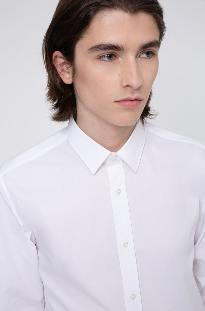 Hugo Elisha Slim Fit Shirt White - Roulette Clothing