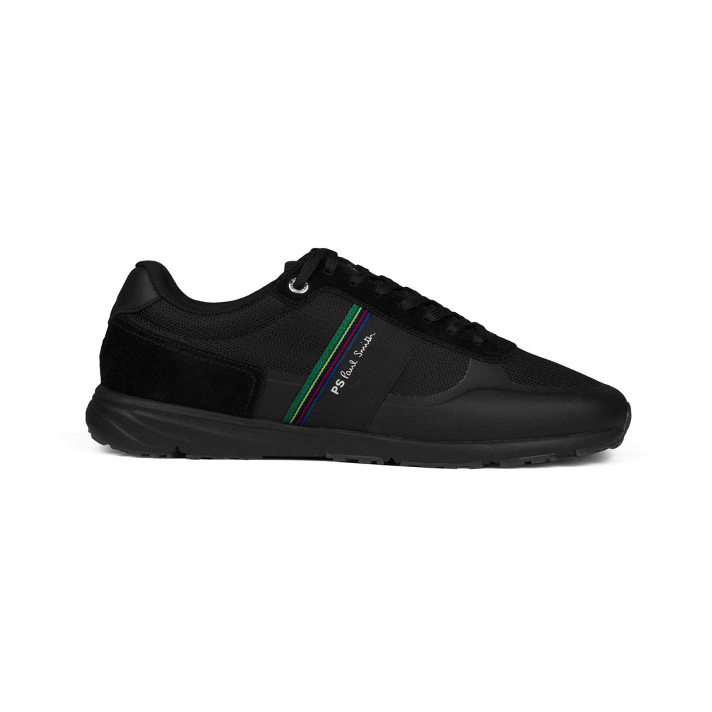 PS Paul Smith Huey Black Leather Sneaker Black - Roulette Clothing