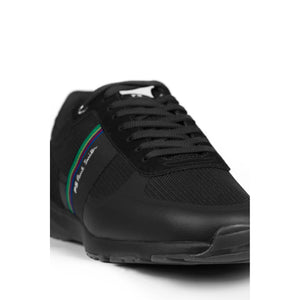 Load image into Gallery viewer, PS Paul Smith Huey Black Leather Sneaker Black - Roulette Clothing
