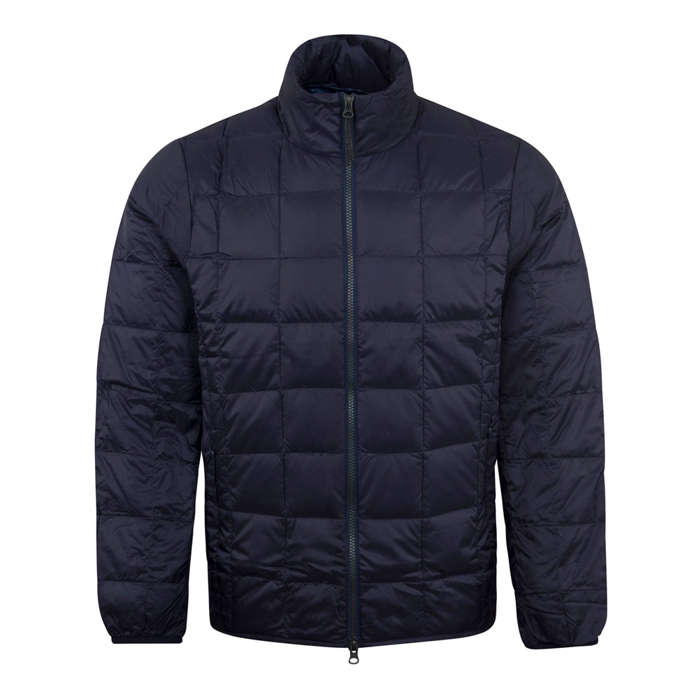 TAION Hi Neck Zip Down Jacket Navy - Roulette Clothing