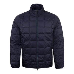 Load image into Gallery viewer, TAION Hi Neck Zip Down Jacket Navy - Roulette Clothing