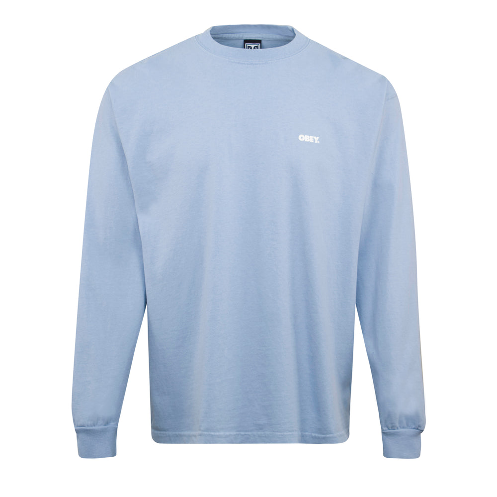 Obey Obey Bold LS T-Shirt Sky, Mens T-Shirts available at Roulette Clothing