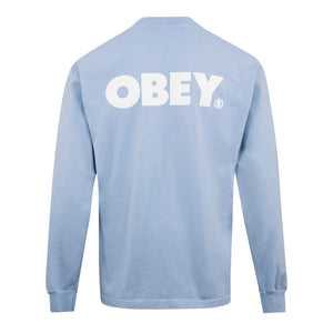 Load image into Gallery viewer, Obey Obey Bold LS T-Shirt Sky, Mens T-Shirts available at Roulette Clothing