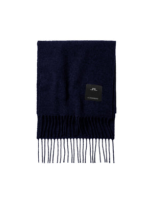 Load image into Gallery viewer, J Lindeberg Champ Solid Wool Scarf Navy - Roulette Clothing