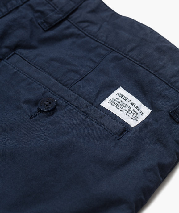 Norse Projects Aros Light Twill Short Navy