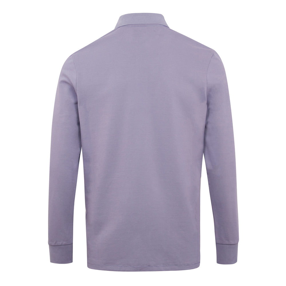 PS Paul Smith Zebra LS Polo Shirt Lilac, Mens LS Polo Shirts available at Roulette Clothing