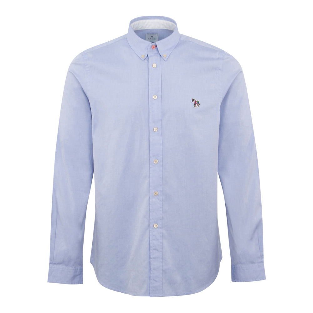 PS Paul Smith Zebra Tailored Shirt Blue - Roulette Clothing