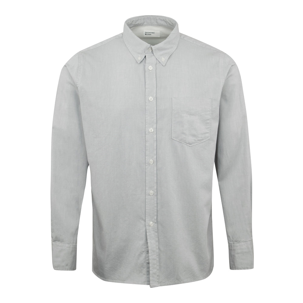 Universal Works Everyday Oxford Button Down Shirt Grey - Roulette Clothing