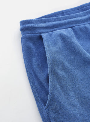 Load image into Gallery viewer, Universal Works Terry Fleece Short Blue, Mens Shorts available at Roulette Clothing
