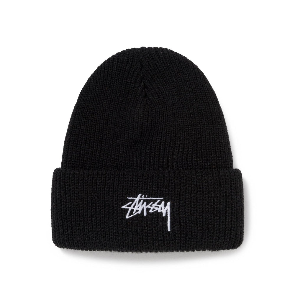 Stussy Stock Cuff Beanie Black - Roulette Clothing