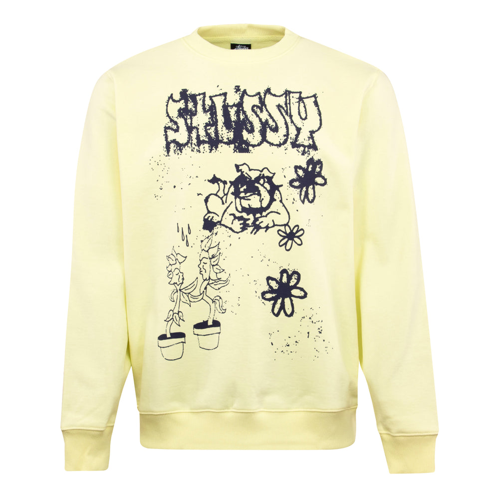 Stussy Bad Dream Crewneck Sweat Yellow - Roulette Clothing