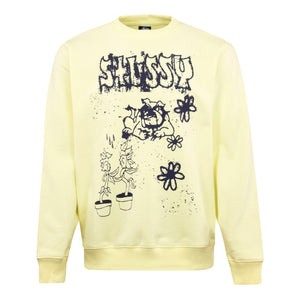 Load image into Gallery viewer, Stussy Bad Dream Crewneck Sweat Yellow - Roulette Clothing