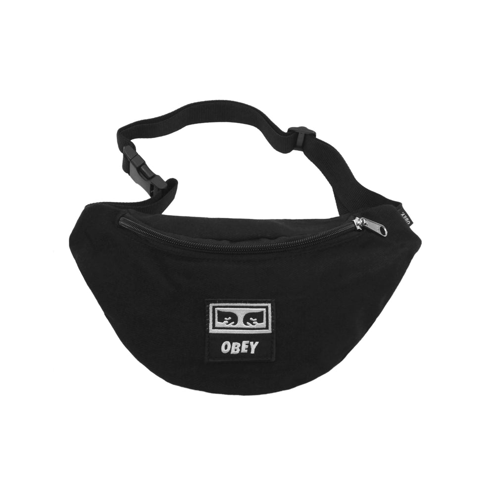 Load image into Gallery viewer, Obey Wasted Hip Bag Black Twill - Roulette Clothing