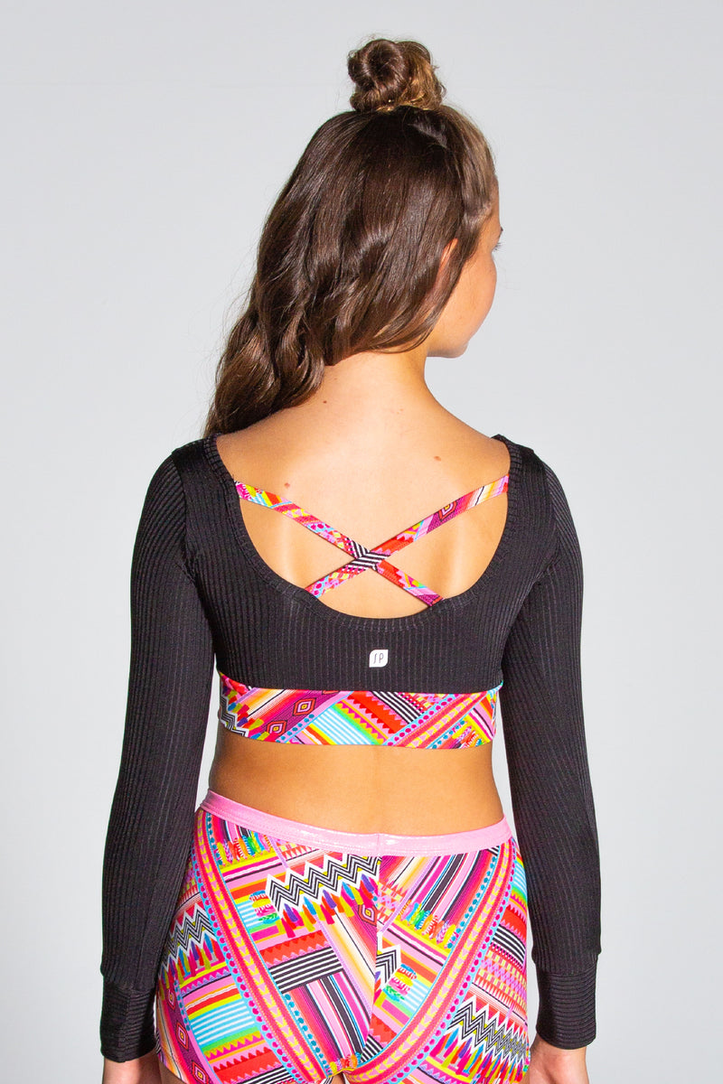 Cancun Cropped Long Sleeve Top