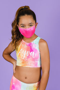 Pink Splash Face Mask