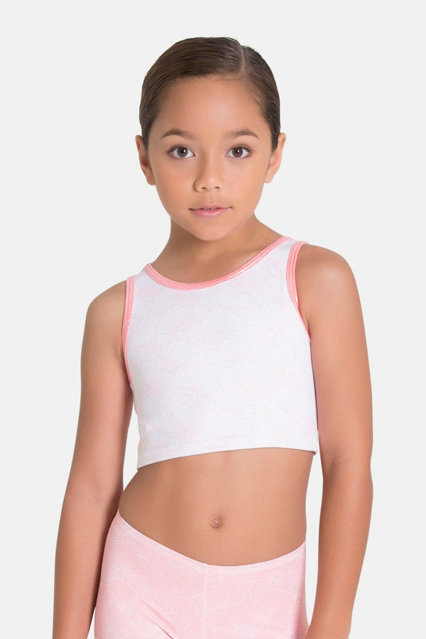 Reversible Coral Rose Cropped Singlet