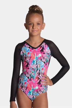 Mash-Up Long Sleeve Leotard