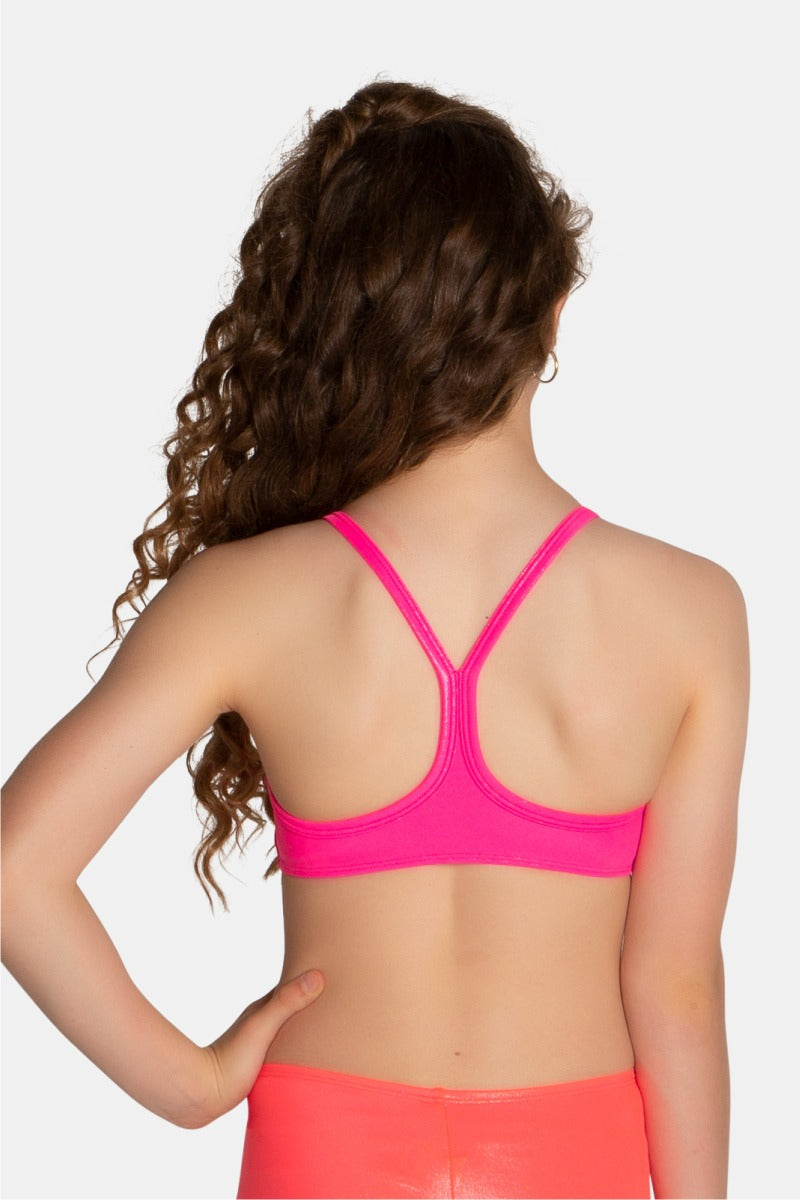 Neon Pink Mystique Crop Top