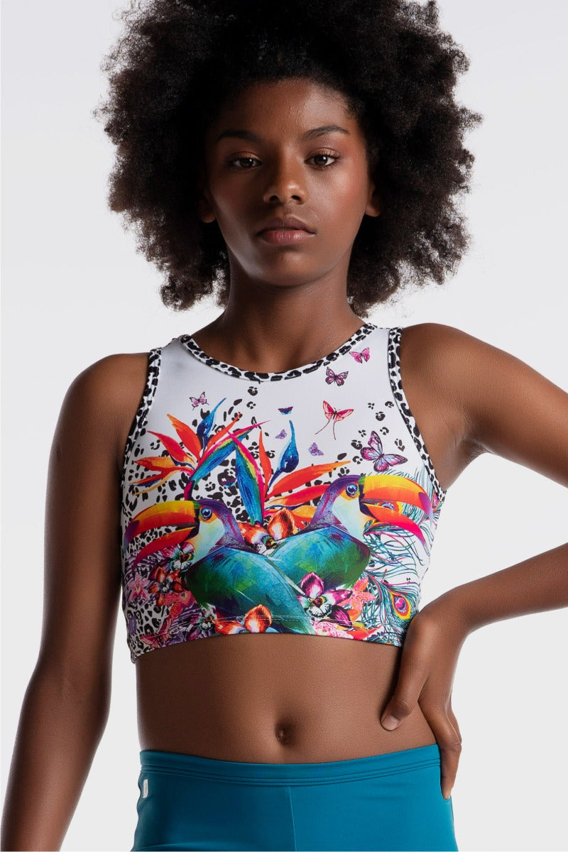 Toucan Time Cropped Singlet