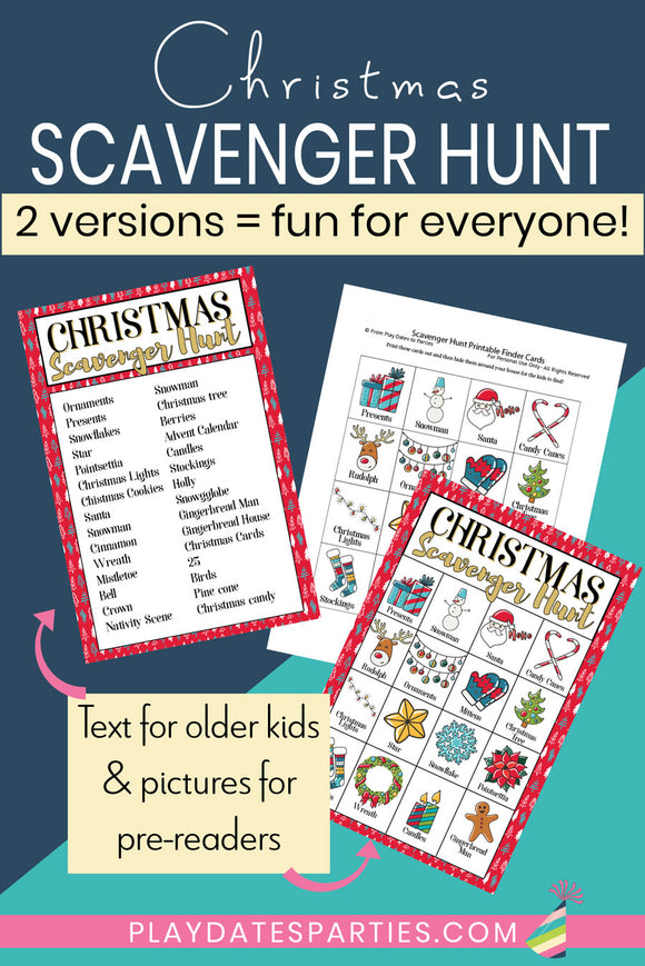 Christmas Scavenger Hunt Cards