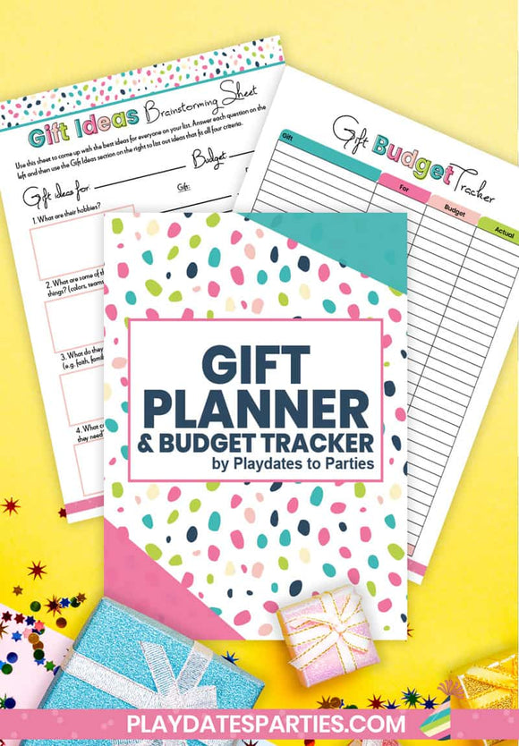 Gift Planner and Budget Tracker - Funky Dots