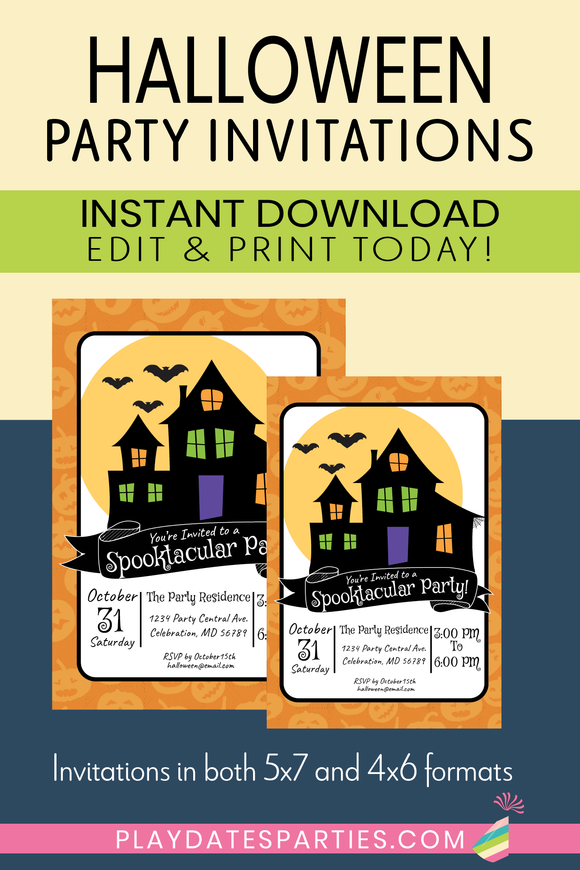 Halloween Party Invitation (Instant Download!)