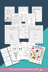 Ice Cream Party Games and Activities