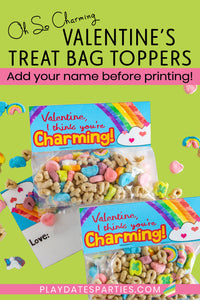 Oh So Charming Valentine's Day Treat Bag Toppers