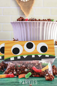 Silly Monster Halloween Treat Bag Toppers