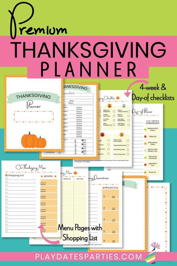 Thanksgiving Planner - Premium