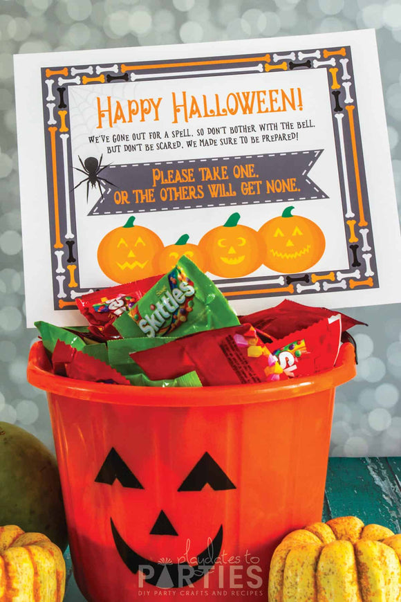 Halloween Take One Candy Sign
