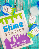 Slime Party Signs & Tags