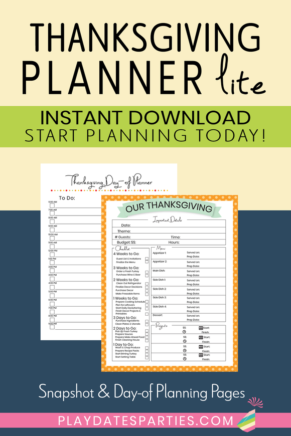 Thanksgiving Planner - Lite
