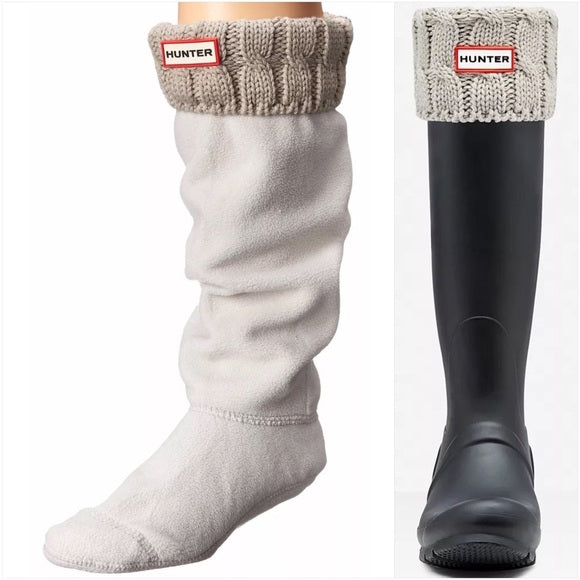 Large 6 Stitch Cable Boot Sock - Tall