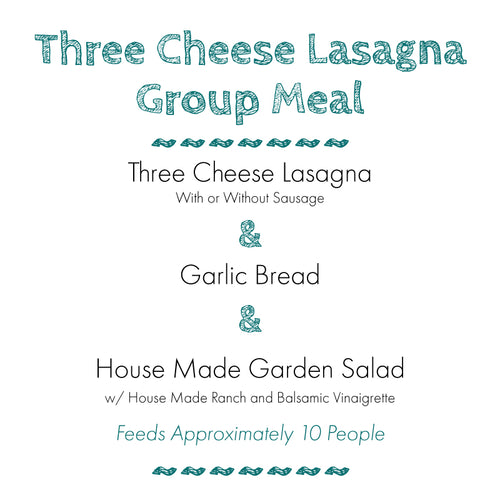 Lasagna Group Meal