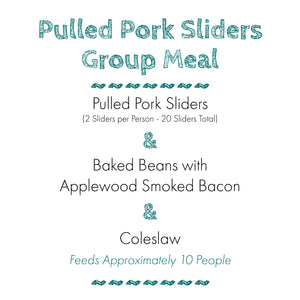 Pulled Pork Slider Group Meal
