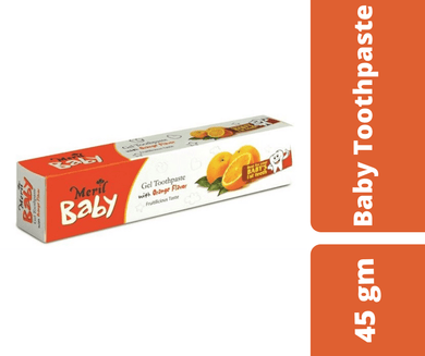 Maya baby Care Meril Orange Gel Toothpaste For Baby 45 gm