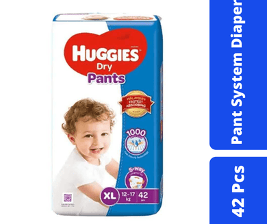 Maya diapers Huggies Dry Pant Diaper XL (12-17 KG) 42 Pcs