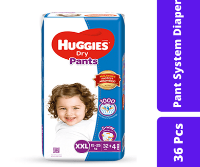 Maya diapers Huggies Dry Pant Diaper XXL (15-25 KG) 36 Pcs
