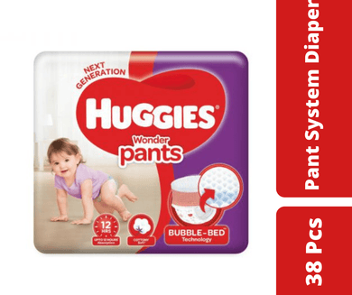 Maya diapers Huggies Wonder Pants Bubble Bed M (7-12 kg) 38 pcs
