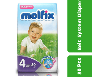 Maya diapers Molfix Belt Diaper Giant Maxi (7-14 kg) 80 Pcs