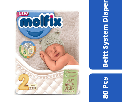 Maya diapers Molfix Belt Diaper Jumbo Mini (3-6 kg) 80pcs