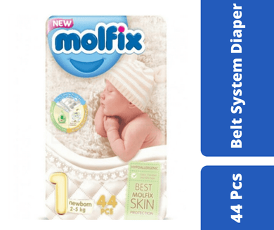 Maya diapers Molfix Belt Diaper New Born (2-5 kg) 44 Pcs