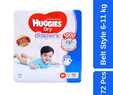 Maya pharmacy diaper Huggies Dry Baby Diaper Belt M 72 pcs